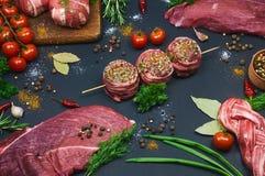 Différents types de viande Images libres de droits