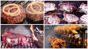 Différents types de viande grillée, composition banque de vidéos