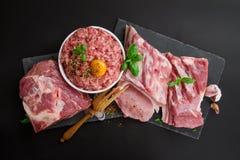 Différents types de viande de porc Photo libre de droits
