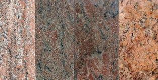 Différents types et nuances de marbre rose Photos libres de droits