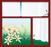 différents types réglés de papier de notes Photo stock