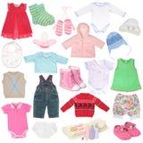 Différents vêtements du `s d'enfant Photo libre de droits