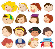 Différents visages Image libre de droits