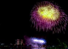 DIFF da nang fajerwerków Międzynarodowy festiwal obraz royalty free