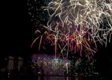 DIFF da nang fajerwerków Międzynarodowy festiwal zdjęcie stock