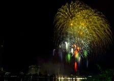 DIFF da nang fajerwerków Międzynarodowy festiwal fotografia stock