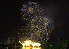 DIFF da nang fajerwerków Międzynarodowy festiwal obrazy royalty free