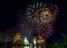 DIFF da nang fajerwerków Międzynarodowy festiwal zdjęcie royalty free