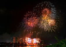 DIFF da nang fajerwerków Międzynarodowy festiwal obraz stock