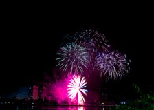 DIFF da nang fajerwerków Międzynarodowy festiwal zdjęcia stock