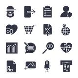 Diff?rentes ic?nes de vecteur Ic?nes simples pour des apps, des programmes et le site illustration de vecteur