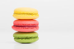 Differen color macaroons Stock Photos