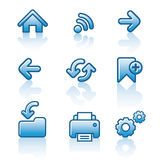 Web navigation icon set Royalty Free Stock Photo