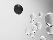 Difference of balloons. Difference of business concept with balloons Royalty Free Stock Images