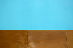 Floor and water. The difference of a color Royalty Free Stock Photo