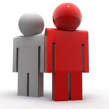 Difference concept. 3d image of people symbols, one of them is special Royalty Free Stock Images