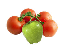 Difference fruits team hybrid concept Royalty Free Stock Image