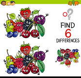 Difference game with fruits Stock Photo
