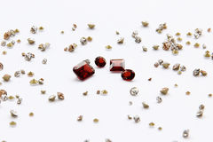 The Difference of Gems. The Difference of Gem on white background Royalty Free Stock Photos