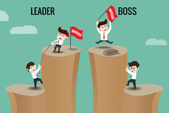 The difference between Leader and Boss Stock Photography