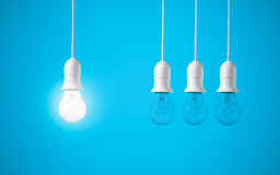 Free Difference Light Bulb On Blue Background. Concept Of New Ideas Stock Image - 87359001