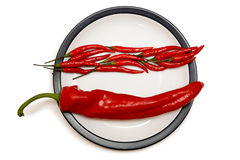 Difference peppers Stock Photo
