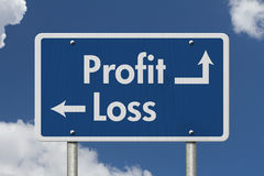 Difference between Profit and Loss Royalty Free Stock Photography
