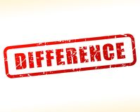Difference text buffered. Illustration of difference text buffered on white background Stock Images
