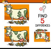 Differences activity for children Stock Photos