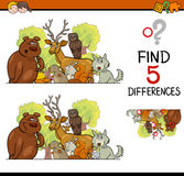 Differences game for children Royalty Free Stock Photos