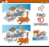 Differences game for children Stock Photos