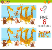 Differences game for children Royalty Free Stock Images