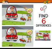 Differences game for kids Stock Photos