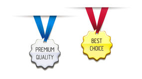 Differences medal on a ribbon Royalty Free Stock Image