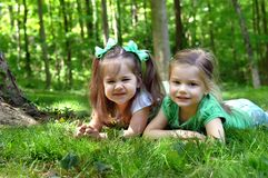 Differences in Sisters royalty free stock photography