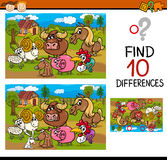 Differences task with animals Stock Images