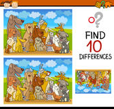 Differences task for preschoolers Stock Photos