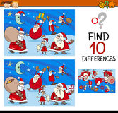 Differences task with santa Royalty Free Stock Photography