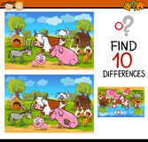 Differences test with farm animals Stock Photography