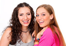Different 04. Portrait of two different teenage-girls Royalty Free Stock Photo