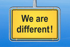 We are different Stock Images