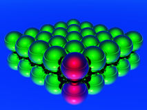 Different 3d ball Royalty Free Stock Images