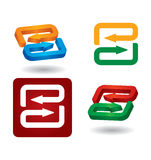 Different abstract arrows icon set Stock Photography