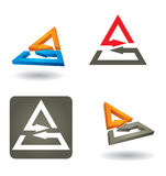 Different abstract arrows icon set Royalty Free Stock Images