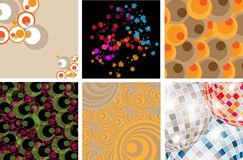Different abstract backgrounds Royalty Free Stock Images