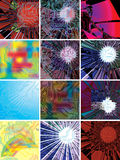 Different abstract backgrounds closeup Royalty Free Stock Image