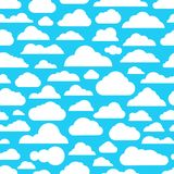 Different abstract cartoon clouds pattern. Different abstract cartoon clouds seamless pattern Stock Photos