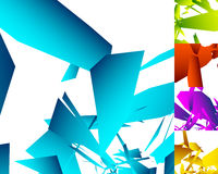 5 different abstract geometric background in 5 color Royalty Free Stock Photography