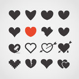 Different abstract heart icons vector illustration