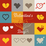 Different abstract heart icons collection Royalty Free Stock Photography